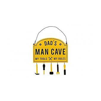 Pappor Man Cave gula hängande dörren plack