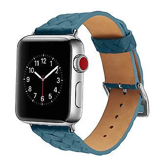 Punottu nahkainen Apple Watch Band, rannekoru Apple Watch Series 38/40mm - Sininen