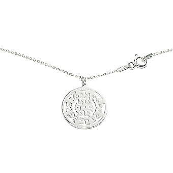 Ah! Joias círculo aberto trabalho colar da prata esterlina, carimbado 925.