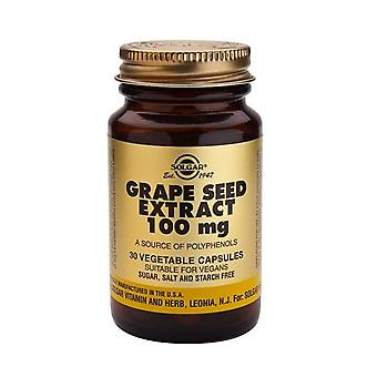 Solgar Grape Seed Extract 100 mg Vegetable Capsules, 30