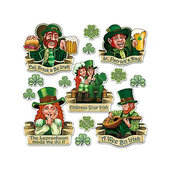 St Patrick's Day Cutouts with Shamrocks
