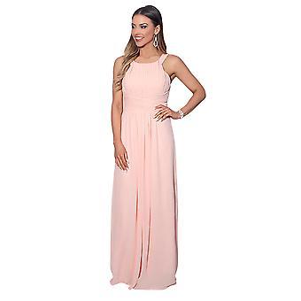KRISP Pleated Front Chiffon Maxi Dress