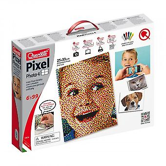 Quercetti Pixel Photo 4 Pegboards - 6,400Pieces Ages 6+