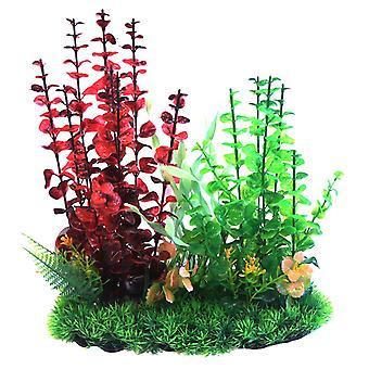 Betta Choice Red & Green Combi Plastic Plant 33cm