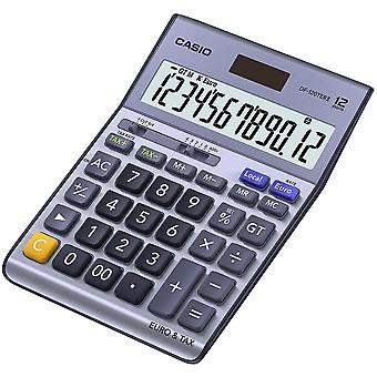 Casio Desk Calculator with Tax & Euro Calculations - Silver (Model No. DF120TER)