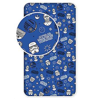 Star Wars Galaxy Single Fitted Sheet - Blue
