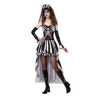 Bristol nyhed dame/damer skelet dronning kostume