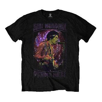 Men's Jimi Hendrix Purple Haze Frame Black T-Shirt