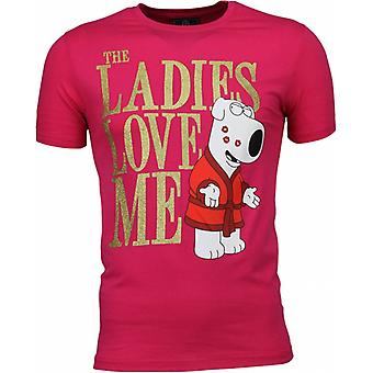 Camiseta-Las damas me encantan print-pink