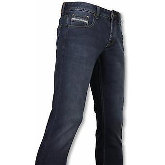 Eksklusive grunnleggende jeans-Regular Fit casual 5 Pocket-Navy