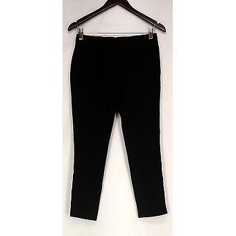 Liz Claiborne York Leggings Crop Length Elastic Waist Black A264124