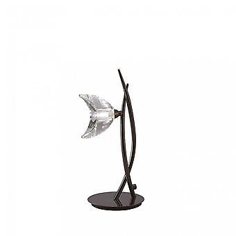 Mantra Eclipse tall bordslampa 1 ljus G9, svart krom