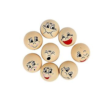 16 Assorted 2cm Wooden Heads for Crafts | Wooden Shapes for Crafts