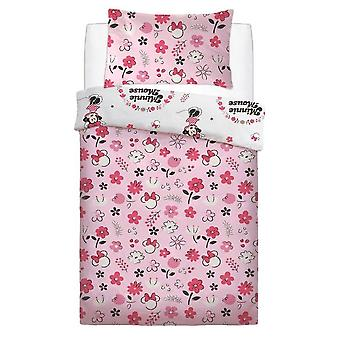 Minnie Mouse Floral Wink Duvet Set