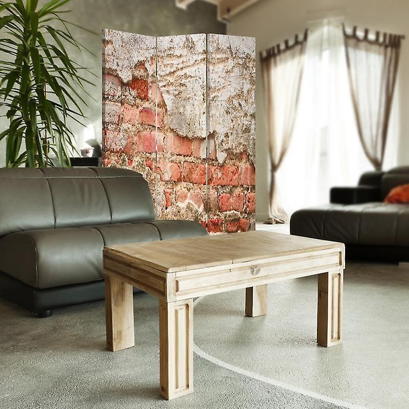 Room Divider, 3 Panneaux, Double-Sided, Rotatable 360 ?? Toile, Mur de briques