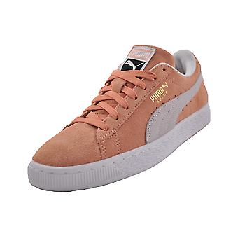 Puma semsket skinn klassisk myk rosa/hvit