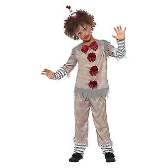 Ragazzi Halloween Vintage Clown Fancy Abito