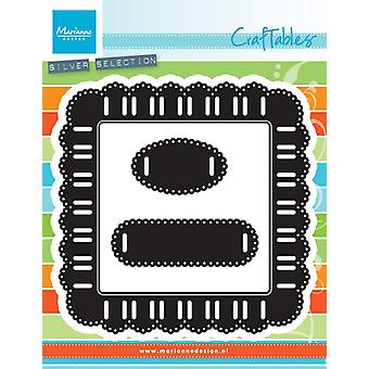 Marianne Design Craftable lint Square sterven, metaal, grijs