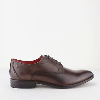 Base London Ivy Mens Burnished Leather Derby Lace Ups Cocoa