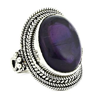 Ring 925 Silber mit Amethyst 56 mm / Ø 17.8 mm (KLE-RI-098-01-(56))