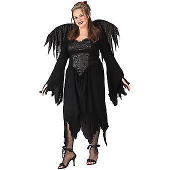 Zwarte Fairy volwassen kostuum