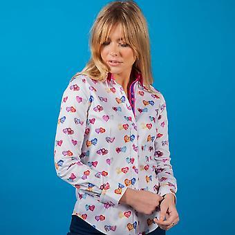 CLAUDIO LUGLI WOMENSWEAR Diana Love Heart Print Shirt