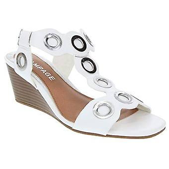 Rampage Womens Lllo Leather Open Toe Casual Ankle Strap Sandals