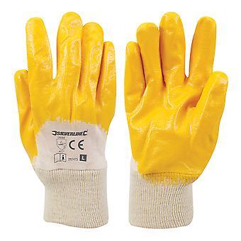 Open rug interlock nitril handschoenen-L 10