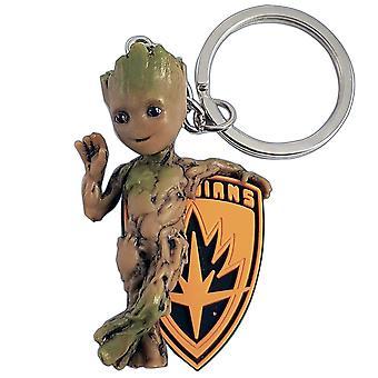 Marvel strážcovia Galaxy Keychain Baby Groot z plastu, s kľúčovým krúžkom
