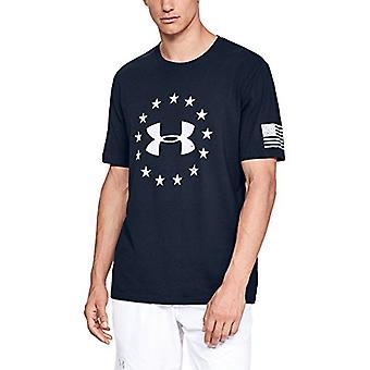Under Armour Men's Freedom Logo Tee,, Academy (408)/White, Size XXX-Large