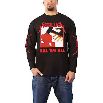 Metallica T Shirt Kill Em All Band Logo new Official Mens Black Long Sleeve
