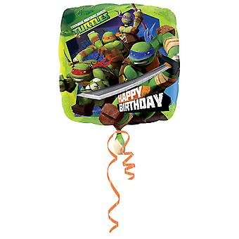 Amscan 18 Inch Teenage Mutant Ninja Turtles Happy Birthday Square Foil Balloon