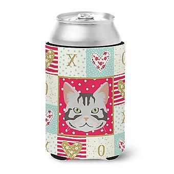 Carolines Treasures CK5082CC Amerikkalainen Shorthair kissa rakkaus voi tai pullo Hugger