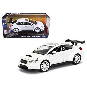 Mr. Little Nobody\'S Subaru Wrx Sti \Fast & Furious\ F8 Movie 1/24 Diecast Model Car  By Jada
