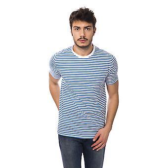 Short-sleeved light blue Bagutta men's T-shirt