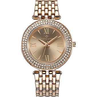 Timothy Stone Watches for Women Rose Gold Tone Crystal-Accented-quot;Burst-quot; Quartz Women-apos;s Fashion Watch