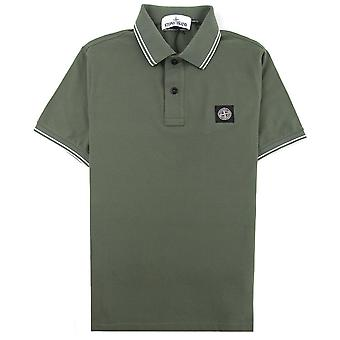 Stone Island 22S18 Slim Fit Polo Shirt Olive V0058