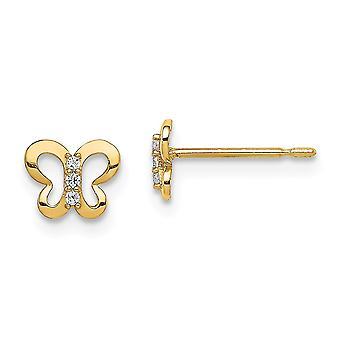 14k Madi K CZ Cubic Zirconia Simulated Diamond Butterfly Angel Wings post Earrings Jewelry Gifts for Women