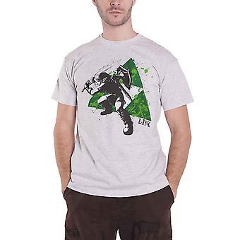 Zelda T Shirt Splatter Triforce Logo new Official Nintendo Mens Grey