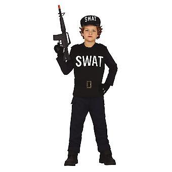 Pojkar Polisen SWAT Fancy Dress Kostym