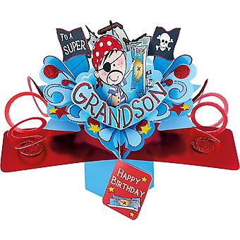Second Nature Pop Up Pirate 3d Grandson Birthday Card Pop158