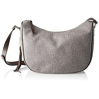 Borbonese Moon Women's Grey Shoulder Bag (Slate/Cortex) 28x25x12 cm (W x H x L)
