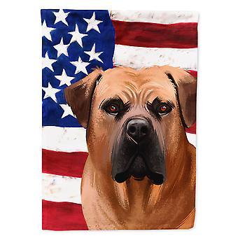 Carolines Treasures  CK6444CHF Boerboel Dog American Flag Flag Canvas House Size