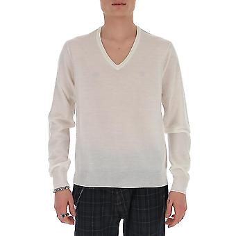 Maison Margiela S50ha0941s16979101 Men's White Wool Sweater