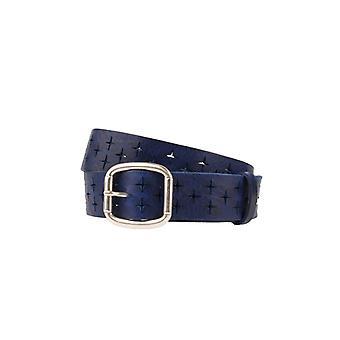 Ceinture pour femme en cuir bleu et ceinture pour hommes avec Plussen