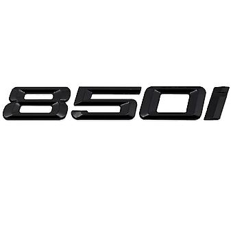 Gloss Black BMW 850i Car Model Rear Boot Number Letter Sticker Decal Badge Emblem For 8 Series G14 G15 G16