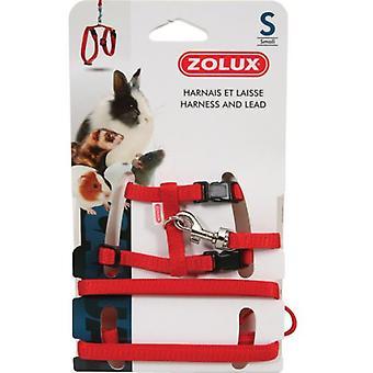 Zolux Arnes + Correa Red Rabbit L (Small pets , Leads & Harnesses)