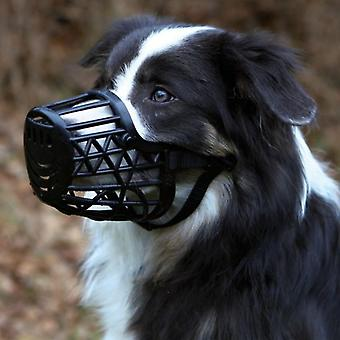 Trixie Plastic Muzzle, Leather Ribbons Set