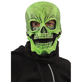 UV Green Sock Skull Mask
