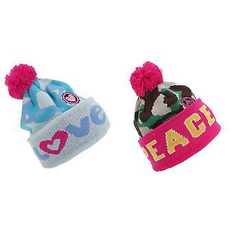 Dla dzieci dziewczyny pokoju/miłości zima Bobble Hat